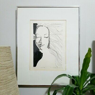 FEMME signed by A. LaMarche, dated 1976 Mid-century Modern Art