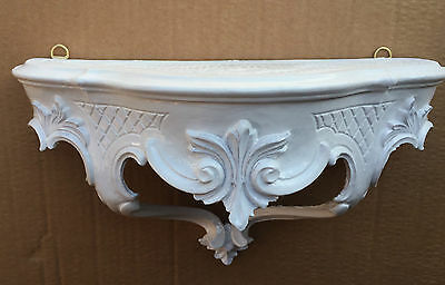 Wall Bracket White Baroque Wall Shelf 30x16 Mirror Table Antique Console Tray
