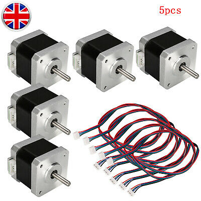 5X Stepping Motors 2-Phase 40mm 1.5A For ENDER-3/CR-10S/A8/A6 For 3D Printer/CNC