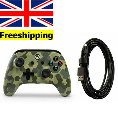 Wired Officially Licensed Controller For Xbox One S Xbox One X Deep Jungle Camo
