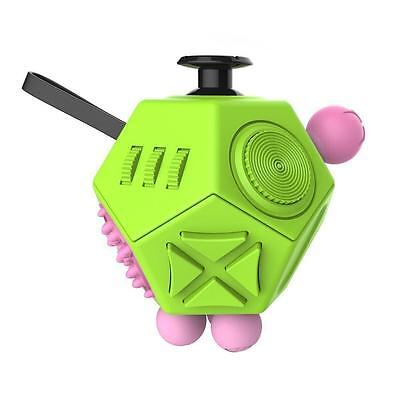 Fidget Cube 12-Sides Desk Toy Stress Anxiety Relief Focus Puzzle Adult Kids Gift
