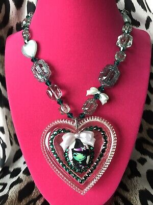Tarina Tarantino HUGE Big Love Wizard Of Oz Wicked Witch Cartoon Heart Necklace