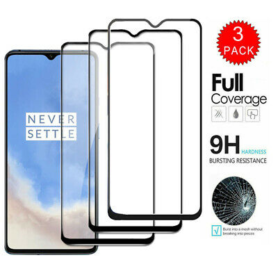 [3/2-Pack] For OnePlus 7T 7 Pro 6T 9H FULL COVER Tempered Glass Screen Protector