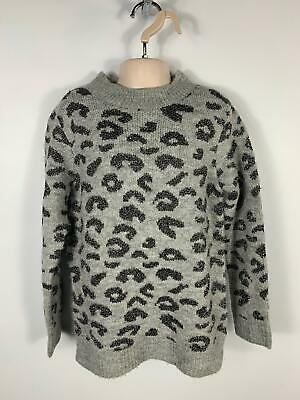 Girls St Bernard M&S Grey Sparkle Jumper Long Sleeve Top Size Kids Age 7 Years