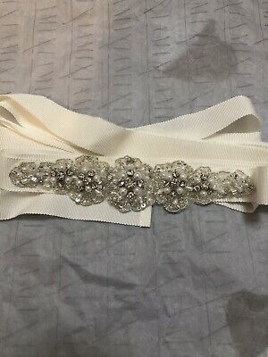 Richard Designs Pearl & Diamanté Wedding Bridal Belt