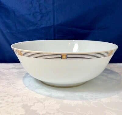 Bernardaud Limoges Porcelain Kent Bleu Saladier / Salad Bowl / Insalatiera NEW