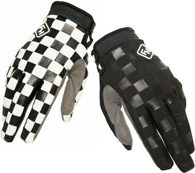 Fasthouse Speedstyle Motocross MX Offroad Race Gloves Checkers Black White Adult