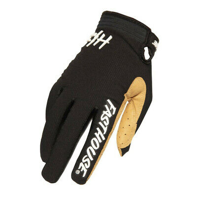 Fasthouse Speedstyle Air Motocross MX Offroad Race Gloves Black White Adults