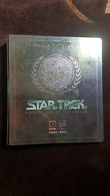 Star Trek Reflections of The Future Phase Three Trading cards + binder