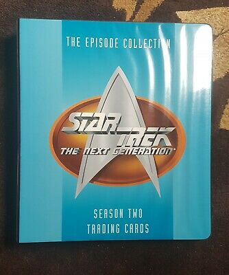 Star Trek the Next Generation Season Two Trading cards + binder + various chase