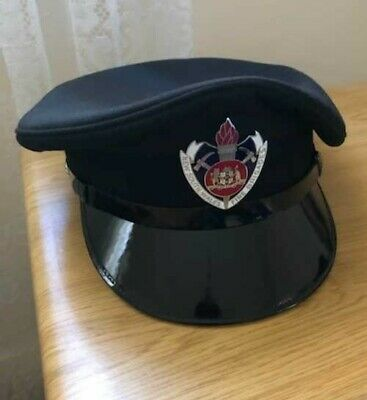 Vintage Obsolete New South Wales Fire Brigades Hat/Cap With Metal Cap Badge