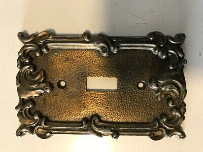 Vintage Turn Of The Century Heavy Brass Switch Plate
