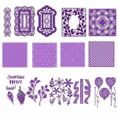 Square Lace Frame Balloons Metal Cutting Dies Scrapbooking Album Paper DIY Card