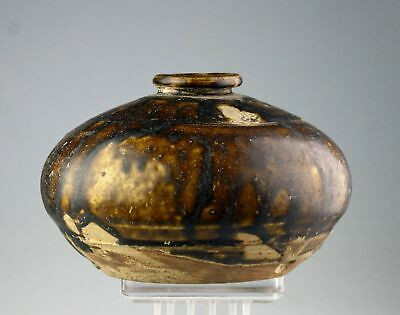 *SC*A BEAUTIFUL KHMER / ANGKOR PERIOD POTTERY BOTTLE, 12th cent AD!