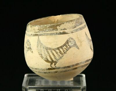 *SC*NICELY DECORATED INDUS VALLEY POTTERY CUP w. ZOOMORPHIC MOTIFS, 3rd mil BCl