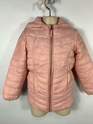 Girls Mothercare Baby Pink Pad Zip Up Casual Rain Coat Hooded Kids Age 8 Years