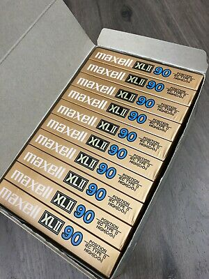 10 Maxell XLII 90 Extra Fine Epitaxial Cassette Tapes Type II HIGH BIAS JAPAN