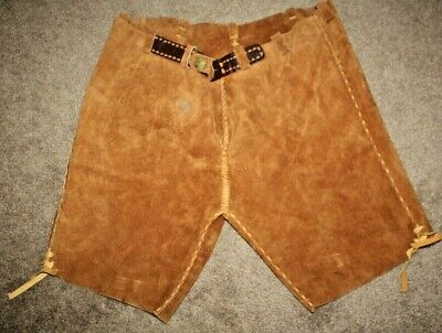 Vintage Handcrafted Leather Suede Men's Shorts XL