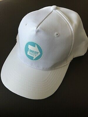 Brexit White Baseball Cap with Brexit Party Logo New!