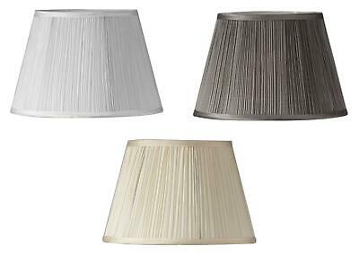 Pleated Silk Effect Fabric Empire Drum Lampshade Table or Ceiling Light Shade