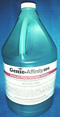 Genie Affinity Dds Fountain Solution New  1 Gallon For Polyester Inkjet Plates