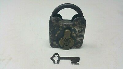 Antique Sargent Smokehouse Door Padlock 1800's Fully Functional G To VG Cond.