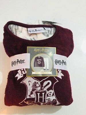 Primark Kids Girls Harry Potter Hogwarts Fleece Cosy Winter Pyjama