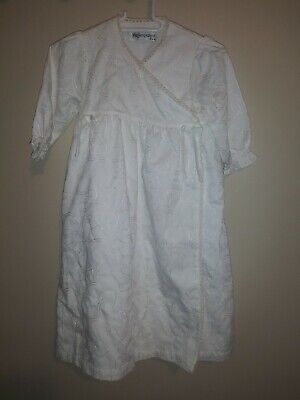 Yves St Laurent Baby Girls Christening Baptism Church Dress Gown Sz 0-6 Months