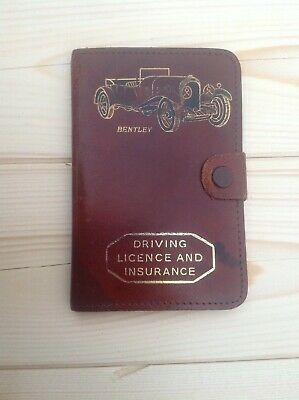 Beautiful Bentley 1960s Vintage leather Insurance & driving license holder