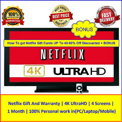 Netflix Gift | Warranty | 4Screens | How To get Netflix Gift Cards UP To 40-60%