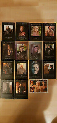 Game of Thrones Trading Cards 15 Insert Lot! Ab Serie Serie 1!! Look!