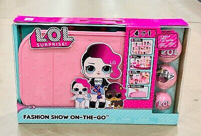 LoL Surprise Fashion On The Go Briefcase 4 In 1 + 18 Surprises Runway Closet