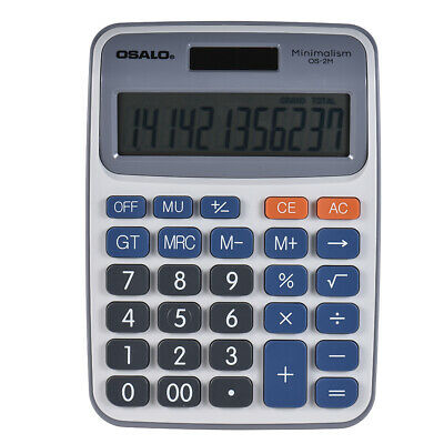 Desktop Electronic Calculator 12 Digits Large Display Solar/Battery Office Q8I5