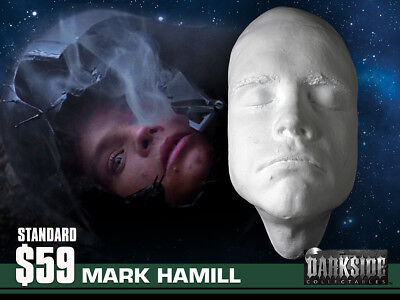 NEW MARK HAMILL LIFE-SIZE Life Cast Life Mask in Lightweight White Resin