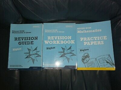 Revise Edexcel GCSE Mathematics A Higher Revision guide workbook practice papers