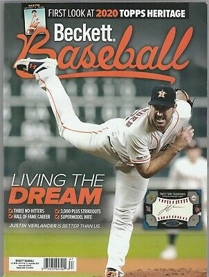 New  Beckett Baseball Price Guide Magazine, December 2019, (Verlander)