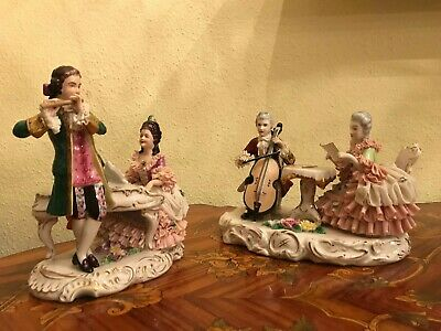 Porcelain German Dresden Decor Porcelain Figure Figurines