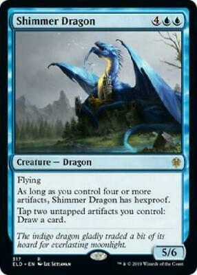 Magic: the Gathering MTG THRONE ELDRAINE SHIMMER DRAGON COLLECTORS PACK CARD