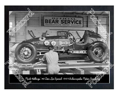 Historic Mack Hellings' #8 Don Lee Special 1949 Indy Postcard