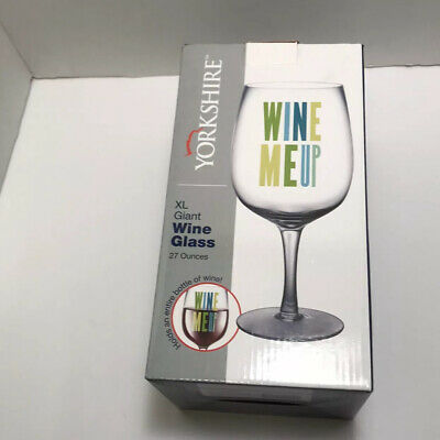 FineLife /'Wine Me Up/' XL Wine Glass 27 Ounces
