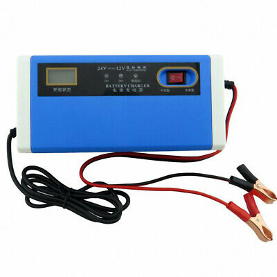 12V 24V 10A battery charger intelligent repair charging automatic stop