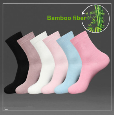 5/10 Pairs Girl/Womens Bamboo Fiber Casual Sport Dress Warm Soft Solid Socks 5-9