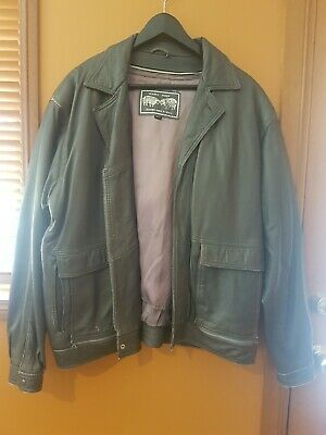 Double Sheep vintage 90s leather fur lined jacket made in Spain sz XXL vgc