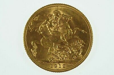 Great Britain 1912 Gold Full Sovereign in Very Fine Condition