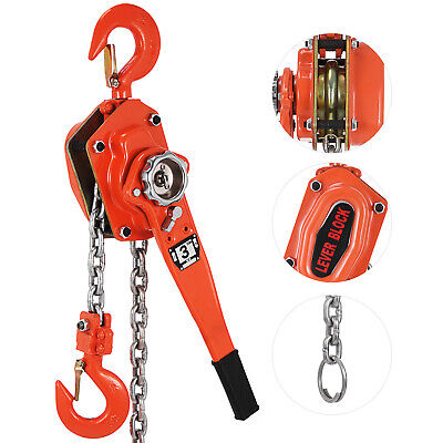 Ratcheting Lever Block Chain Hoist Come Along Puller Pulley 6000lbs/3ton 20ft