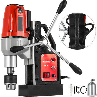 "BRM-35 Magnetic Drill Press 980W 1-1/2"" Boring 2250 LBS Magnet Force Tapping"
