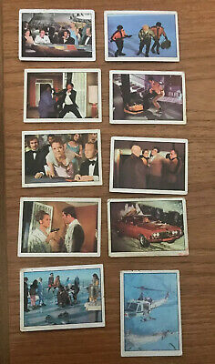 Vintage Anglo 007 Cards Lot # 10 11 12 13 29 30 32 33 39 44