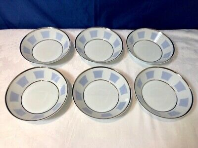 Bernardaud Limoges Galerie Royale Bleu Wallis 6 Coupelle / coppette NEW IN BOX