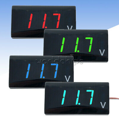 3-Digit LED Digital Display Voltmeter DC 12V Volt Panel Voltage Meter For Car