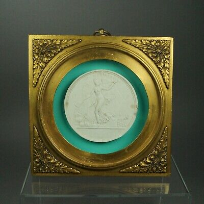 19th Century Grand Tour Cameo Plaster Intaglio Stunning French Gilt Bronze Dore